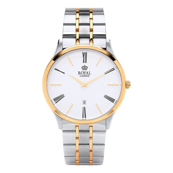 Royal London Men's Classic Two Tone Steel Gold Plate Watch