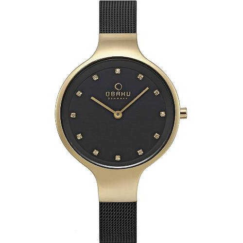 Obaku Stainless Steel Black Dial Round Shape Women's Watch