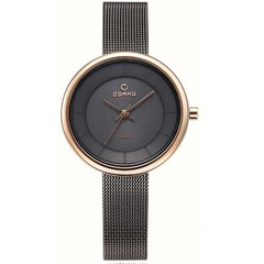 OBAKU 3 needle PVD rose plating Ladies Watch