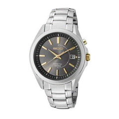 Kinetic Movement Stainless Steel Seiko Men's Watch