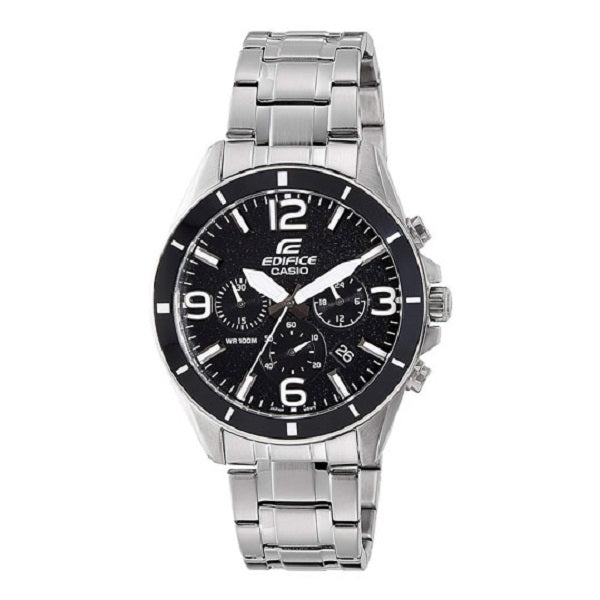 Casio Edifice Analog Black Dial Men's Watch–EFR-553D-1BVUDF(EX280)