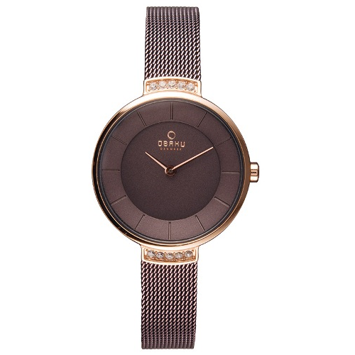 OBAKU Brown Dial Classic Analog Ladies Watch