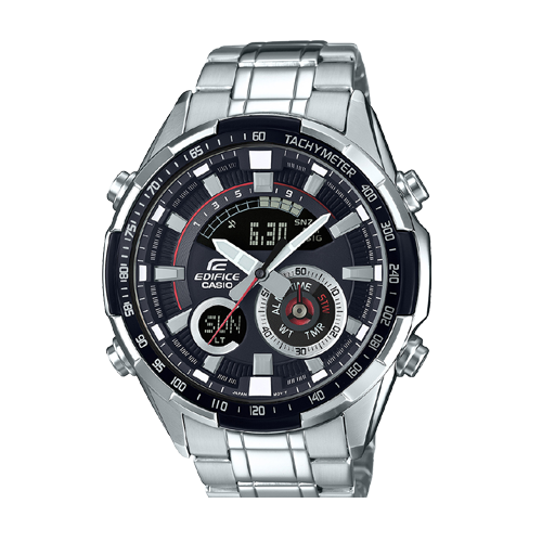 Casio Black Edifice Men's Watch Analog Steel Band