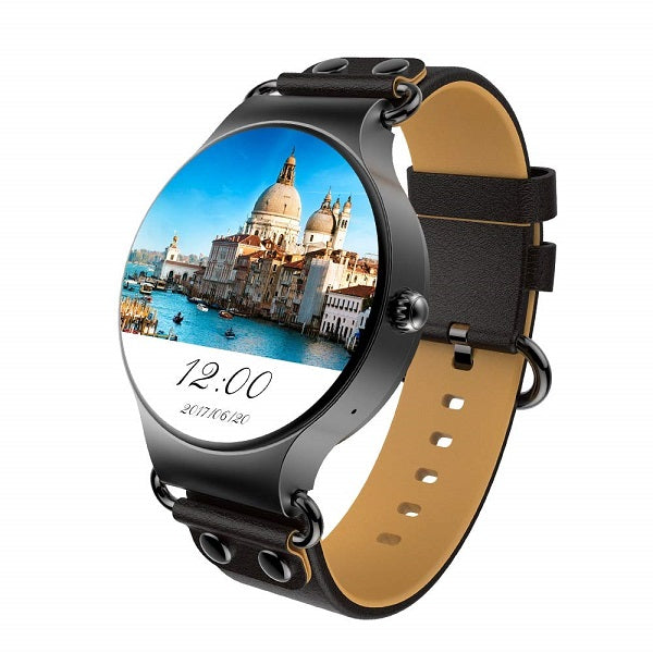 KingWear KW98 3G Smartwatch Phone - SLIVER AND BLACK