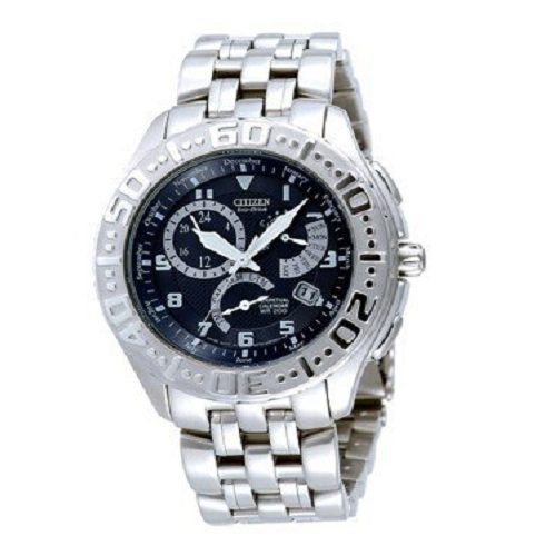 Perpetual Eco-Drive Citizen White Dial Men's Watch