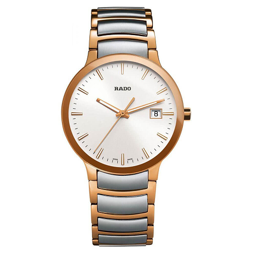 Rado Centric Quartz Steel & Rose Gold Bracelet Men's Watches