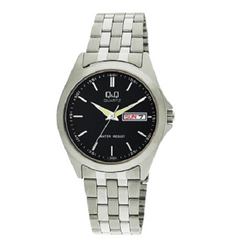 Q&Q Classic Men's Analog Stainless Steel Date Display Watch