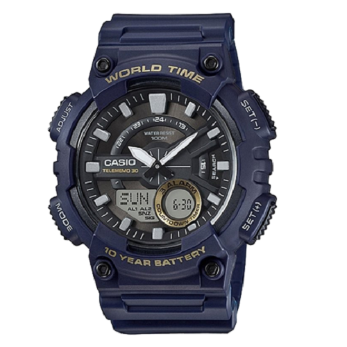 Casio Youth Combination Analog Digital Black Dial Men's Watch