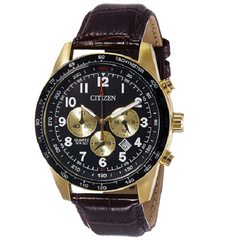 Citizen Quartz Leather Strap Chronograph Men's Watch