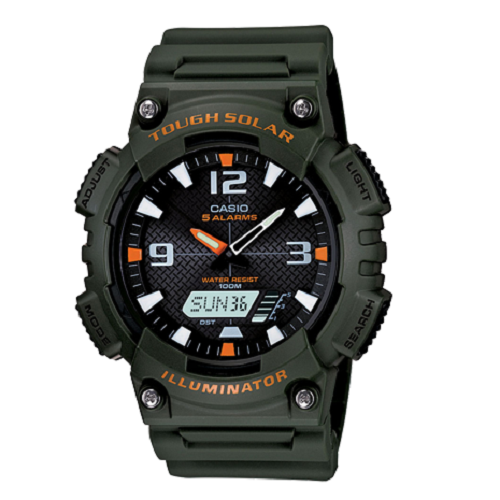 Casio Youth Digital Black Dial Green Resin Strap Men's Sport Watch