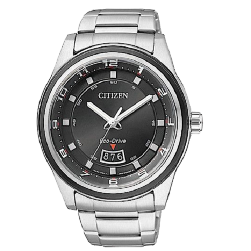 Citizen Men's Analog Dress Silver Stainless Steel Eco Drive Watch