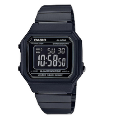 Casio Men's Steel Strap Plastic Case Mineral Glass Watch