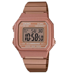 Casio Men's Mineral Pink Gold Strap Steel Case Watch
