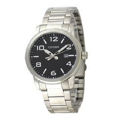 Citizen Casual Quartz Stainless Steel Black Dial Men's Watch
