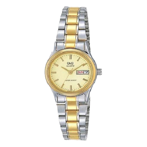 Q&Q Analog Women Dial Yellow Gold Stainless Steel Watch