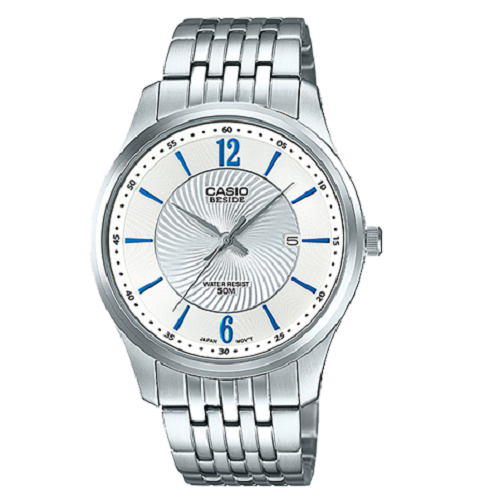 Casio Silver Strap White Dial For Men's Analog Watch