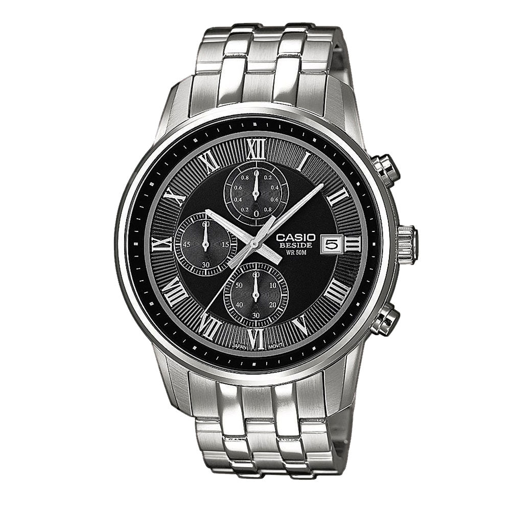 Casio Beside Chronograph Stainless Steel Watch