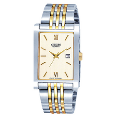 Citizen Men's Analog Stainless Steel Gold Silver Dial Dress Watch