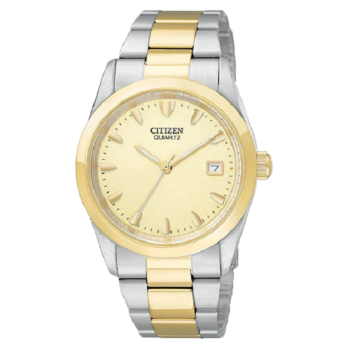 Citizen Analog Men's Casual Champagne Dial Watch