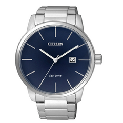 Citizen Analog Blue Dial Men's Stainless Steel Elegant Watch
