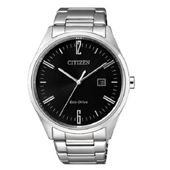 Citizen Eco-Drive Analog Black Dial Stainless-Steel Men's Watch