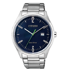 Citizen Analog Blue Dial Men's Stainless Watch
