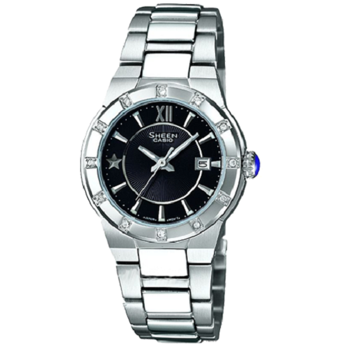 Casio Brand New Ladies Silver Metal Sheen Watch