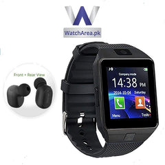 Pack of 2 -DZ09 Smart Watch + QCY Mini 2 Bluetooth Handsfree