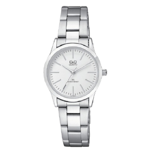 Q&Q Women's Analog Silver Dial Silver Strap Steel Pear Watch
