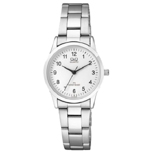 Q&Q Ladies Analog Silver Dial Silver Strap Stainless Steel Watch