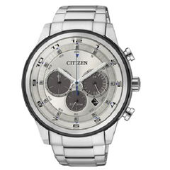 Citizen Men's Eco Drive Silver Tone Multi Dial Watch