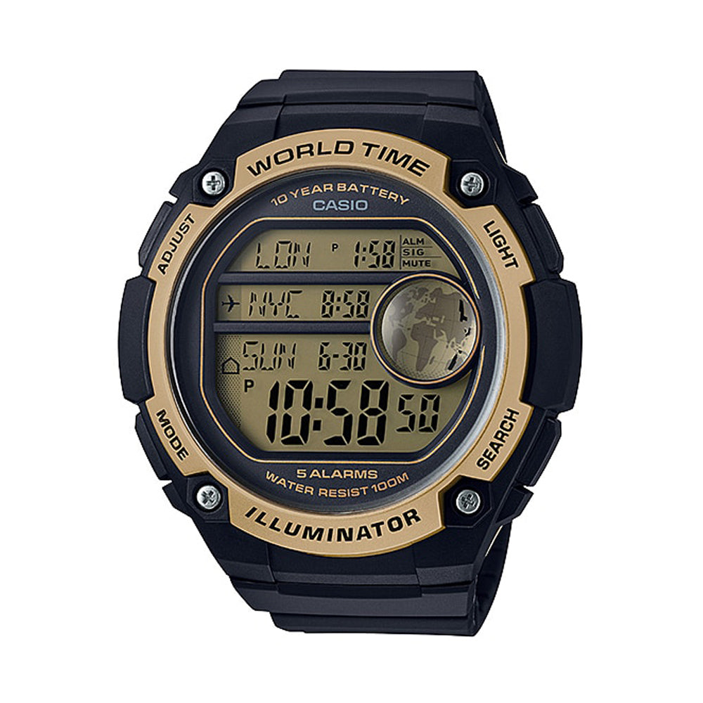 Casio Digital Black Dial Men's Watch–AE-3000W-9AVDF