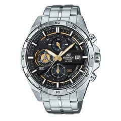 Casio Analog Casual Watch Edifice Chronograph Silver Men's