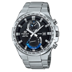Casio Edifice Stainless Steel Chronograph World Time Watch