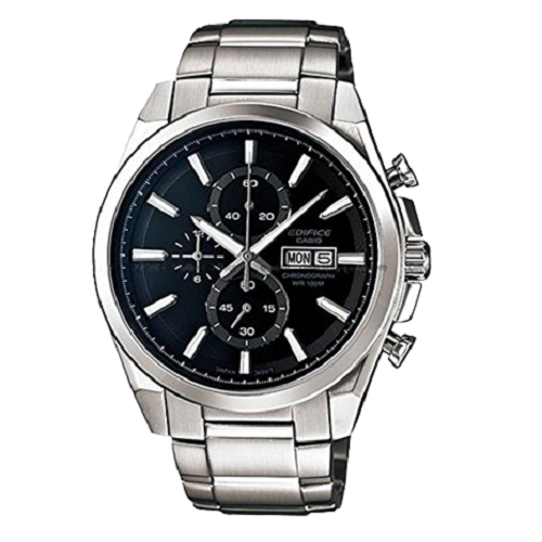 Casio Men's Edifice Silver Stainless-Steel Quartz Watch