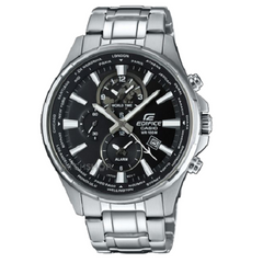 Casio Men's Edifice World Time Alarm Chronograph Watch