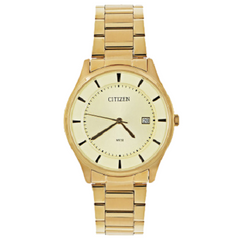 Citizen Quartz Women Gold Tone Stainless Steel Crystal Watch