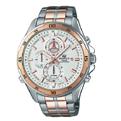 Casio Edifice Chronograph White Dial Men's Wrist Watch