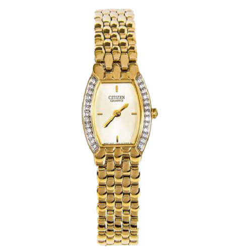 Citizen Quartz Ladies Analog Gold Plated Fashion Dress Watch