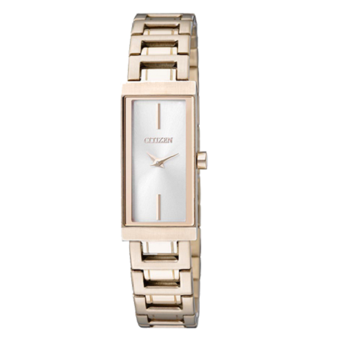 Citizen Analog White Dial Gold Tone Basic Women's Watch