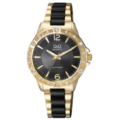 Q&Q Woman's Fashion Black Dial Bracelet Analog Watch