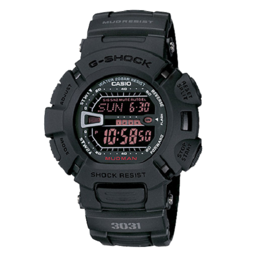 Casio Master Men's G-Shock Black Resin Digital Dial Watch