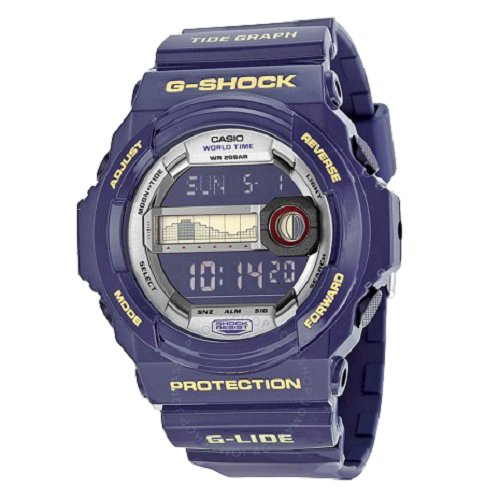 Casio Men's G Shock Ride Blue Dial Silicone Band Digital Sports Watch