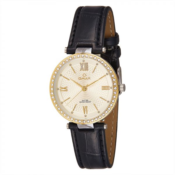 Women Leather Strap Wrist Watch Omax GT001T12l