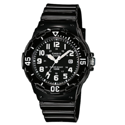 Casio Women's Kids Stainless Steel Black Dial Watch