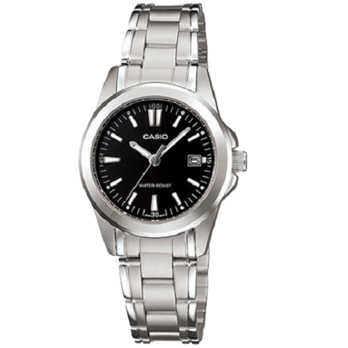 Casio Classic Analog Ladies Steel Date Display Watch