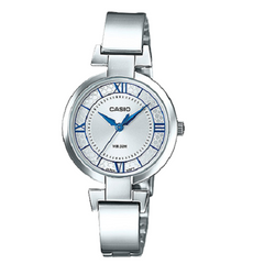 Casio Quartz Ladies Silver Band Stainless Steel Analog Watch