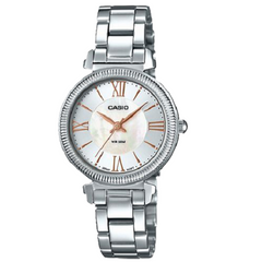 Casio Quartz Silver Stainless Steel Band For Women Watch
