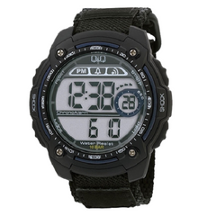 Q & Q Digital Sports Men's Black Dial Wrist Watch