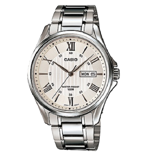 Casio Casual Analog Stainless Steel Men's Silver Watch